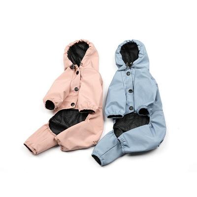 Cute Pink Summer Outdoor Puppy Pet Ruffwear Accessories Dog Rain Coat_4