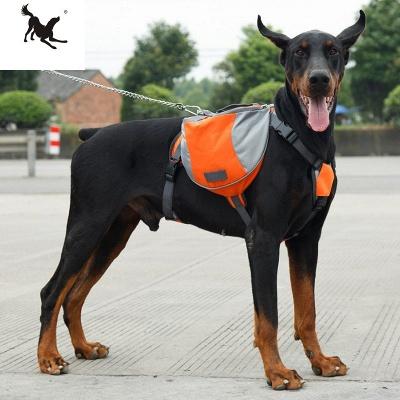 Dog Backpack Harness Hound Camping Hiking Backpack Saddle Bag Rucksack_1