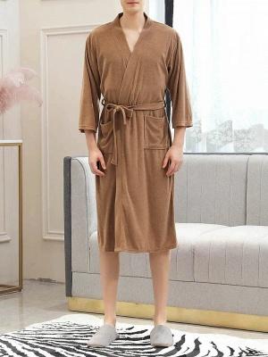 Women's Bathrobe Morning Dressing Gown_2
