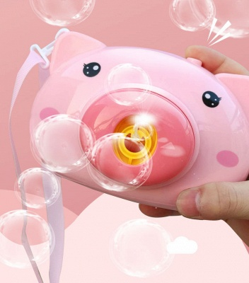 Pig Animal Soap Children Bubble Maker Camera Bath Wrap Machine Toys Bubble Gifts for Kids and Girls_4
