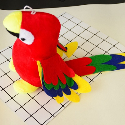 Plush  Cute Flamingo  Puzzle Bite-resistant Vocal Dog Toy Teeth Toys_2