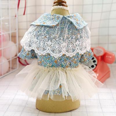 Princess Floral Dog Skirt For Girl Dog_3