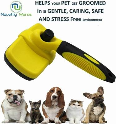 Self Cleaning Dog Cat Slicker Brush Grooming Brush Comb Shedding Tool Hair Fur_4