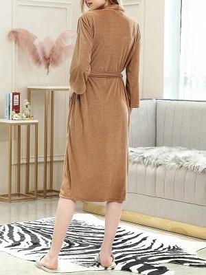 Women's Bathrobe Morning Dressing Gown_3