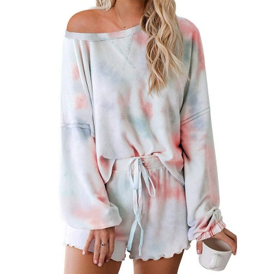 Tie-dyed Summer Pyjamas Twinset For Women_4