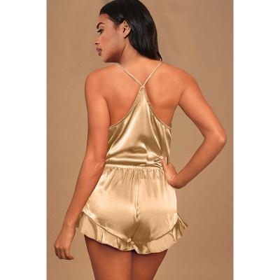 Women's Sexy Imitate Silk Pajamas Set_4