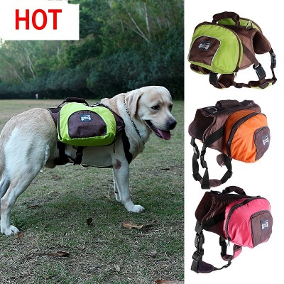 Cheap Dog Backpack Harness and Carrier for Hiking and Camping_2