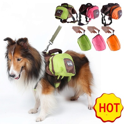 Cheap Dog Backpack Harness and Carrier for Hiking and Camping_1