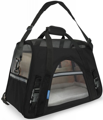 Pet Carrier Soft Sided Puppy Kitten Cat Dog Tote Bag Travel Airline Approved_7