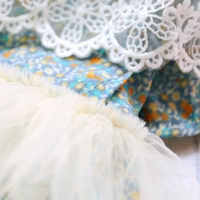 Princess Floral Dog Skirt For Girl Dog_5