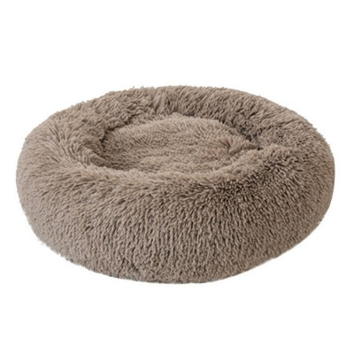 Donut Plush Pet Dog Cat Bed Fluffy Soft Warm Calming Bed_3