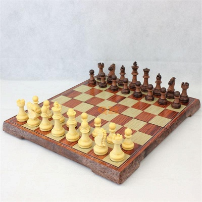International Chess Checkers Folding Grain Board Chess Game_4