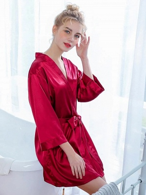 Women's Fashion Bathrobe Belt Nightgown_3