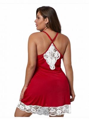Spaghetti Straps Sexy Lace Nightgown_4