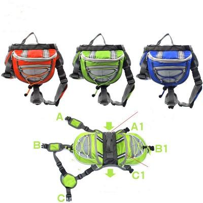 Cotton Canvas Dog Saddle Backpack for Medium & Large Dog_2