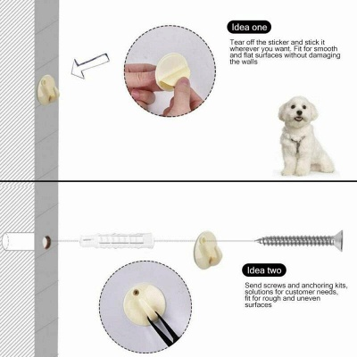 Magic Pets Dog Cat Baby Safety Gate Mesh Fence Portable Guard Net Stairs Doors_8