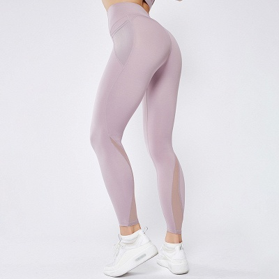 Women High Waist Sports Gym Wear Leggings Yoga Pants | Elastic Fitness Lady Overall Full Tights Workout_4