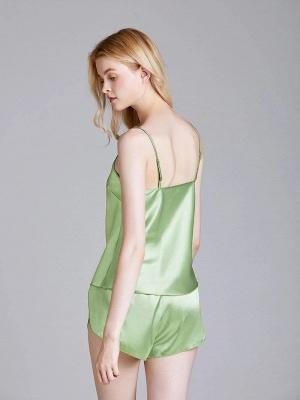 Imitate Silk Sleepwear Pajamas Set_3