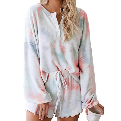 Stylish Tie-dyed Loungewear Casual Home Clothes_5