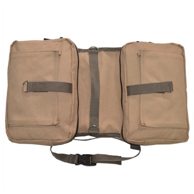 Lightweight Dog Canvas Backpack Harness with Adjustable Straps_3