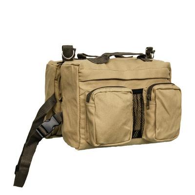 Dog Backpack Hiking Harness Canvas Saddle Bag Adjustable Straps_4