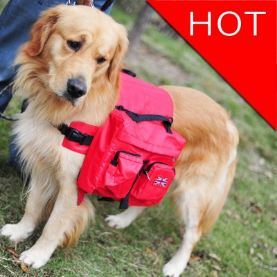 Dog Backpack Harness Carrier Travel Packs for Hiking Camping_2