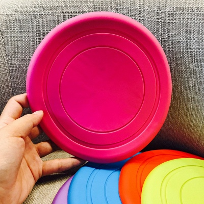 Soft Frisbee Rubber Vocal Griding Teeth Frisbee Dog Supplies Toys_4