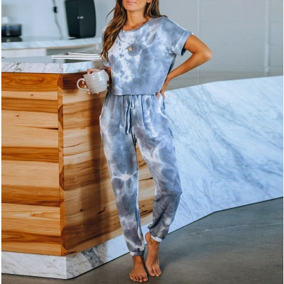 Fashion Tie-dyed Home Clothes Track Suit for Sports_1