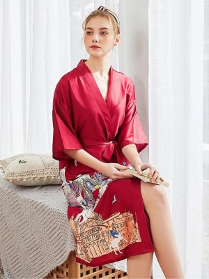 Sexy Morning Dressing Gown for Women_3