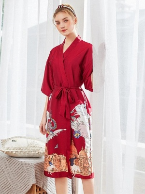 Sexy Morning Dressing Gown for Women_1