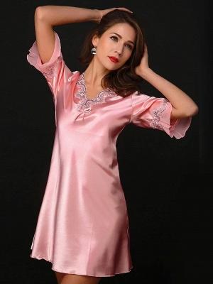 Women's Sexy Imitate Silk Dressing Gown_3