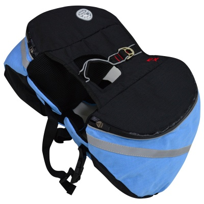 Dog Canvas Hiking Saddle Backpacks for Medium & Large Dogs_2