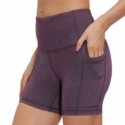 Ladies Spliced High-Waisted Lift Buttock Yoga Shorts | Sports Gym Wear Leggings Elastic Fitness Running Sport Hot Pants_6