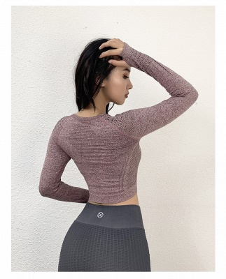 Fashion Sexy Women Two-piece Long Sleeve Yoga Sportswear | Gym Sports Suit_6