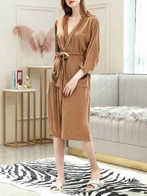 Women's Bathrobe Morning Dressing Gown_1