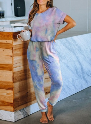Fashion Tie-dyed Home Clothes Track Suit for Sports_4