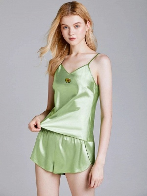 Imitate Silk Sleepwear Pajamas Set_1