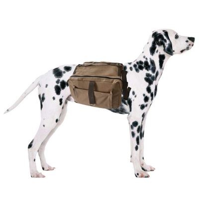 Lightweight Dog Canvas Backpack Harness with Adjustable Straps_1