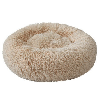 Donut Plush Pet Dog Cat Bed Fluffy Soft Warm Calming Bed_5