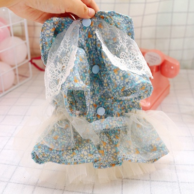 Princess Floral Dog Skirt For Girl Dog_4