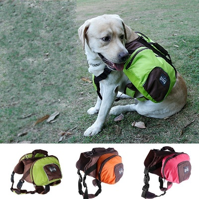 Cheap Dog Backpack Harness and Carrier for Hiking and Camping_3