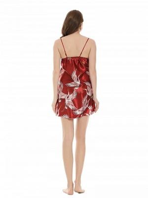 Women's Sexy Imitate Silk Pajamas Dressing Gown_3