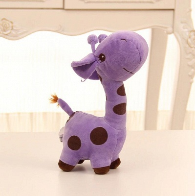 Animal Dear doll Baby Kid Child Christmas Birthday Happy Colorful Gifts 18cm Unisex Cute Gift Plush Giraffe Soft Toy_2