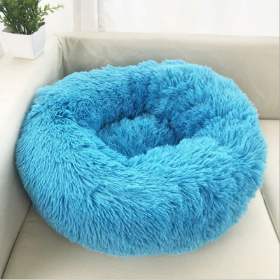 Ultra Soft Washable Dog and Cat Cushion Bed | Comfortable Round  Cuddler Dog Bed_23