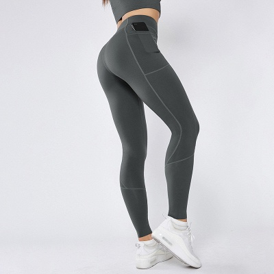 Women Girls High Waist Sports Gym Wear Leggings Yoga Pants | Elastic Fitness Overall Full Tights Workout_1