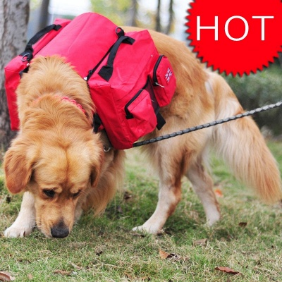 Dog Backpack Harness Carrier Travel Packs for Hiking Camping_1