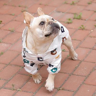 Cute Dog Jumpsuit Raincoat Adjustable Lightweight Breathable Rain Poncho_3