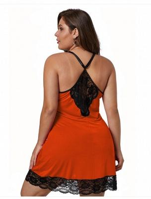 Spaghetti Straps Sexy Lace Nightgown_6