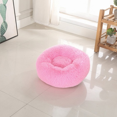 Ultra Soft Washable Dog and Cat Cushion Bed | Comfortable Round  Cuddler Dog Bed_11