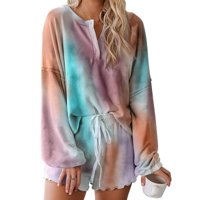 Stylish Tie-dyed Loungewear Casual Home Clothes_4